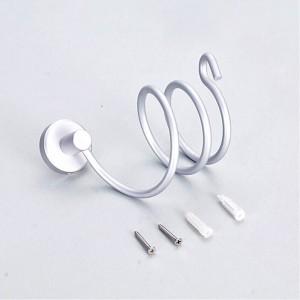 Aluminum Wall Mount Spring Style Hair Dryer Holder Rack